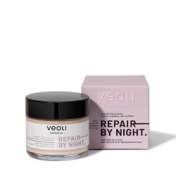 "Veoli Botanica, Krem do twarzy na noc z ochroną lipidową ""second skin"" REPAIR BY NIGHT, 60ml"
